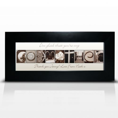 Personalised Affection Art Godmother Frame
